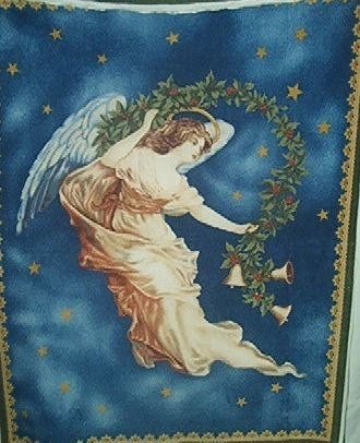 Christmas Guardian Angel Fleece Panel Blanket