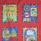 Christmas Don't Pout Large Blocks Quilt Fabric