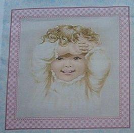 Darling Nostalgic Baby Blocks Kids Quilt Fabric OOP