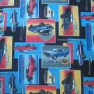 Muscle Cars on Black Kids Quilt Fabric OOP