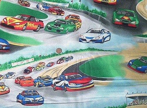 Race Car Nascar Kids Quilt Fabric OOP