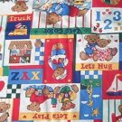 Teddy Patches Top or Backer for Kids Quilt