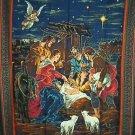 Manger Scene Jesus Christmas Wall Quilt Panel