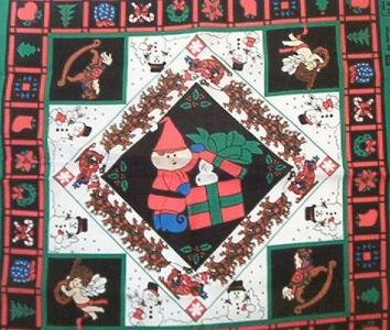 Christmas Scarves Pillow Panel Fabric