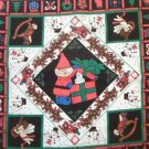 Christmas Scarves Pillow Panel Fabric