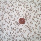 Tan Daisies on Beige Fabric