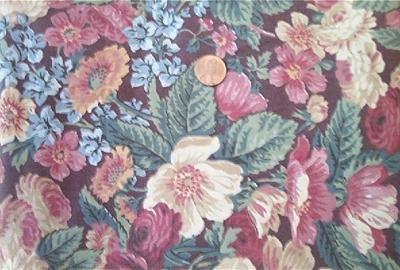 Roses on Burgundy Fabric