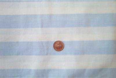 Baby Blue and White Striped Fabric