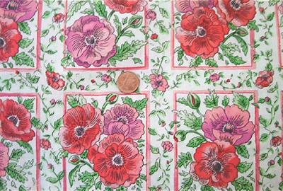 Poppies on White Fabric