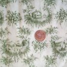 Green Toile Quilt Fabric