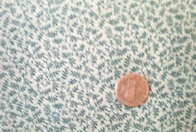 Green Leaves on Tan Civil War Quilt Fabric