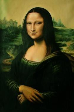 Oil Painting Repro da Vinci Portrait of Mona Lisa