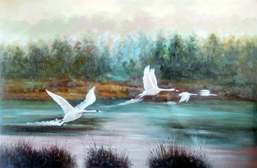 Flight For Home oil paintings