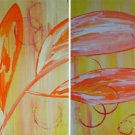 Breezy Acrylic Diptych Painting on Canvas by SAMOS