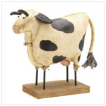 Cow Fabric Figurine