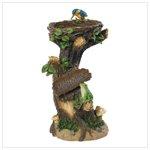 Bird Nest on Trunk Lamp Statue