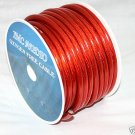 4 AWG GAUGE 25 FEET RED POWER GROUND AMP WIRE