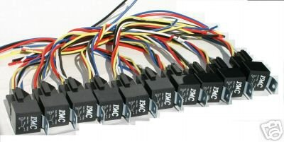 10 PACK 12V DC 30A/40A Relay & Socket SPDT Bosch Style