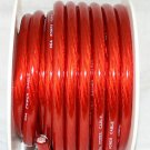 0 GAUGE RED POWER WIRE CABLE 50 FT ROLL NEW  PC0-50RE