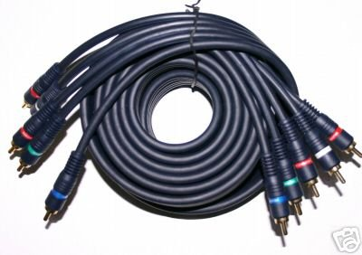 5 RCA Component Audio Video Cable HDTV DVD 12 ft 0301