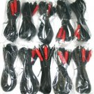 10 pack 18 FT 2 RCA  audio CABLE STEREO male RCA0102-18
