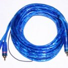 2 RCA CABLE TWISTED PAIR BLUE  REMOTE WIRE 17 FT ps9-5