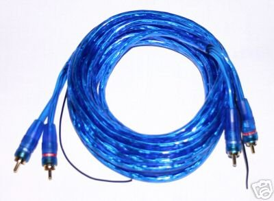 2 RCA CABLE TWISTED PAIR BLUE  REMOTE WIRE 20 FT ps9-6