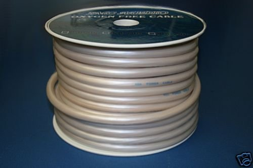 4 GAUGE WHITE POWER WIRE 100 FT ROLL NEW  PC04-100WHT