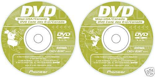 Pioneer AVIC EastWest GPS Upgrade Navigation DISK DISC