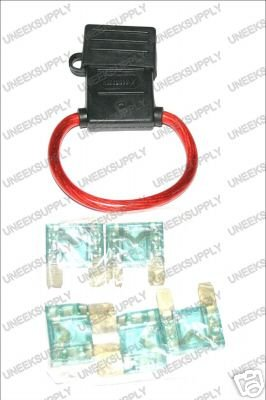 FUSE HOLDER WITH MAXI 5 70 AMP FUSES  8 GAUGE