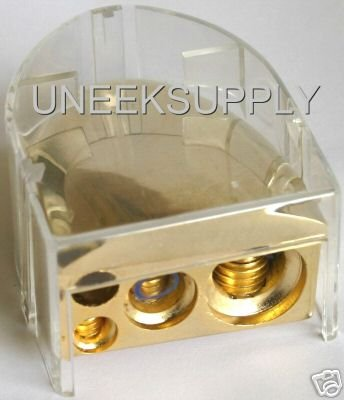 BATTERY TERMINAL Gold 0 2 4 8 GAUGE WITH COVER NEW B35G