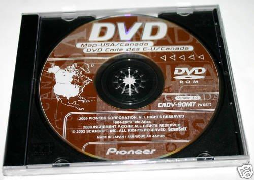 Pioneer AVIC N1 N2 West GPS Navigation DISC CNDV-90MT