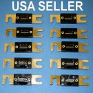 10x 250AMP ANL Fuses Car Audio Gold Plated 250A 250 AMP