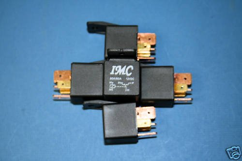 5 PACK 12V DC 80A/60A Car Auto Relay SPDT Bosch Style