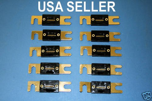 10x 300AMP ANL Fuses Car Audio Gold Plated 300A 300 AMP
