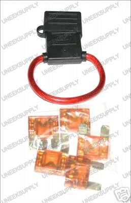 FUSE HOLDER WITH MAXI 5 40 AMP FUSES  8 GAUGE