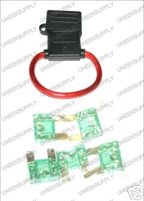 FUSE HOLDER WITH MAXI 5 30 AMP FUSES  8 GAUGE