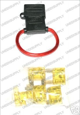 FUSE HOLDER WITH MAXI 5 20 AMP FUSES  8 GAUGE