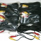 8 pack 12 FT 3 RCA audio video CABLE male 3 RCAs 87-12