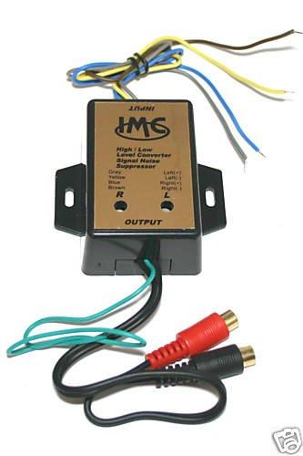 RCA Car Line Converter Output Adapter HI LOW LEVEL 405