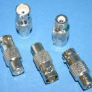 BNC JACK TO RCA JACK ADAPTER 5 PACK 1000