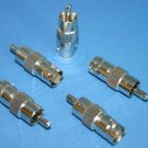 BNC JACK TO RCA PLUG ADAPTER 10 PACK 999