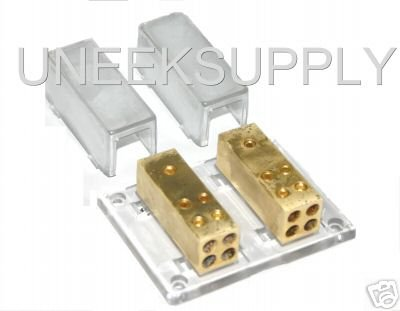 POWER GROUND DISTRIBUTION BLOCK DUAL 4 8 GAUGE   PS128