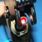 CARBON FIBER RED LIGHT LED AIRCRAFT TYPE TOGGLE SWITCH