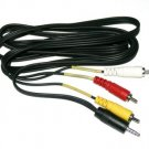 10 pack 6 Ft 3.5MM  3 RCA Male Audio-Video Cable 314