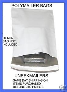 25 each 10x13 AND 6x9 WHITE POLY MAILER BAG ENVELOPES