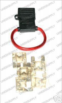 FUSE HOLDER WITH MAXI 5 80 AMP FUSES  8 GAUGE