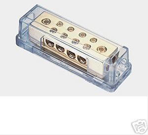 DISTRIBUTION BLOCK TWO 0/2 GA IN 8/8 GA OUT  NEW PD-15