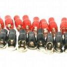 20 GOLD PLATD RING TERMINALs 8 GAUGE 3/8 HOLE NEW grt08
