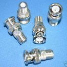 BNC PLUG TO F JACK ADAPTER 5 PACK 2842